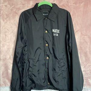 MATIX black windbreaker jacket